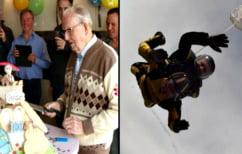 ΝΕΑ ΕΙΔΗΣΕΙΣ (Γιόρτασε τα 100ά γενέθλιά του με ελεύθερη πτώση και έκανε ρεκόρ (ΒΙΝΤΕΟ))