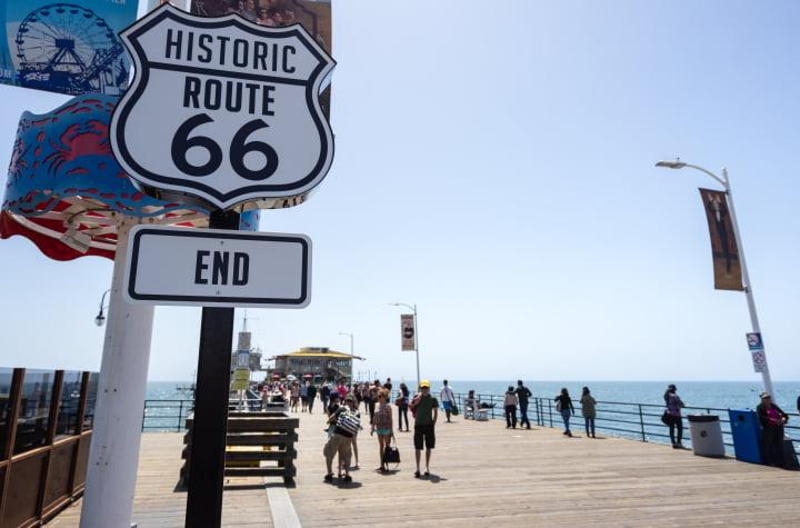 Santa Monica pier, Route 66
