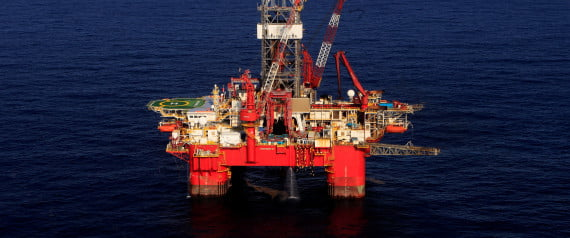 General view of the Centenario deep-water oil platform in the Gulf of Mexico off the coast of Veracruz, Mexico