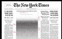 ΝΕΑ ΕΙΔΗΣΕΙΣ (Συγκλονιστικό πρωτοσέλιδο των New York Times: «Μία κουκίδα για κάθε ζωή που χάθηκε»)