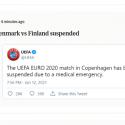 ΝΕΑ ΕΙΔΗΣΕΙΣ (EURO 2021:  Ο Κρίστιαν Έρικσεν έχασε τις αισθήσεις του, οι γιατροί δίνουν μάχη να τον επαναφέρουν)